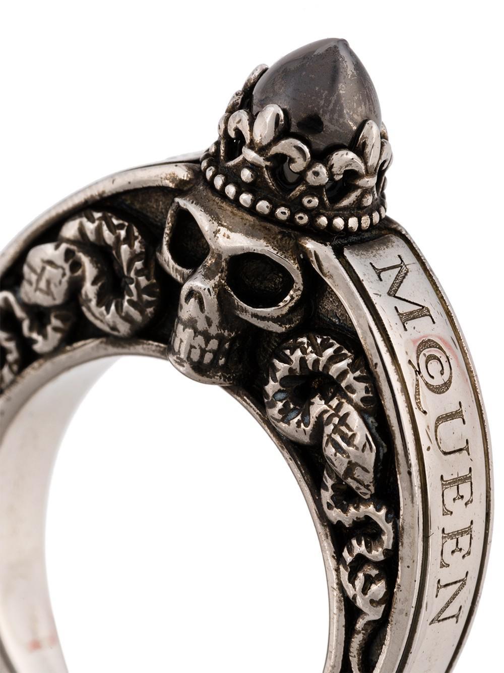 Lyst Alexander Mcqueen Skull Ring For Men