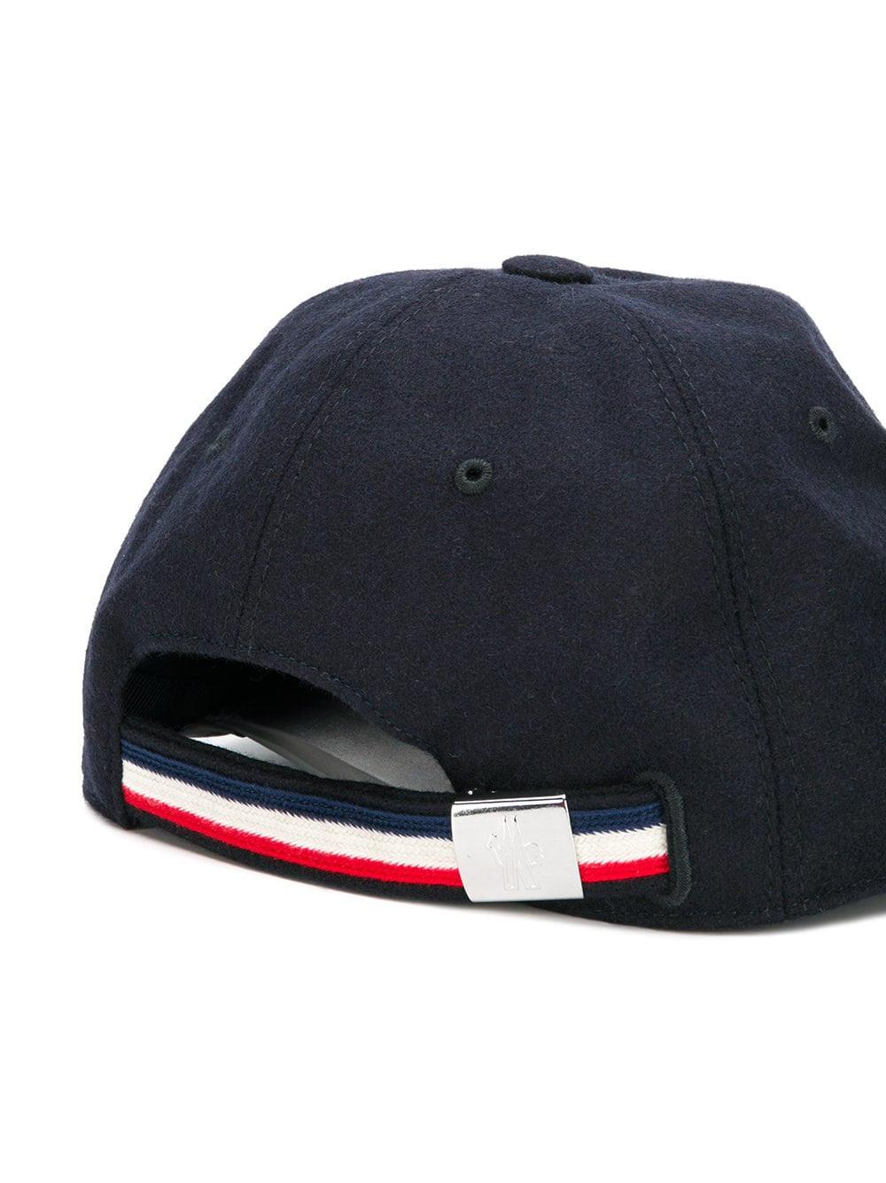 db7cb80a7cd3 Moncler Piped Logo Patch Cap in Blue for Men - Save ...