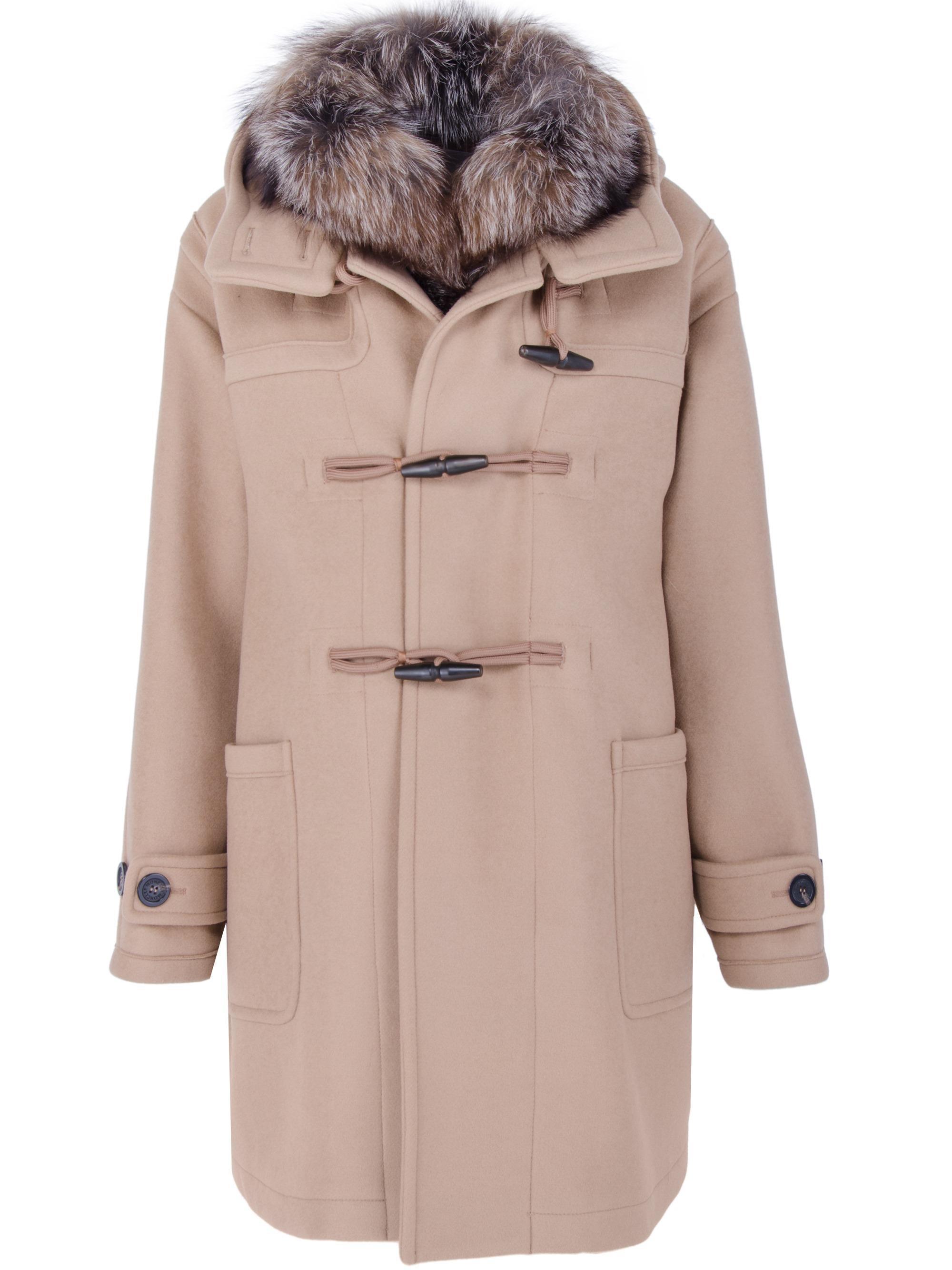 5c3688e6d Moncler Multicolor Narcissus Fur-trimmed Coat