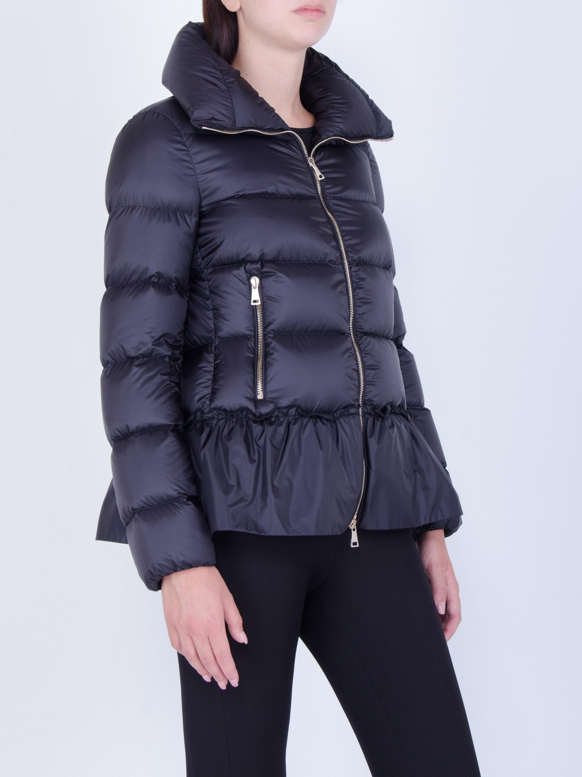 Moncler Synthetic Anet Peplum-detailed Down Jacket in Blue ...