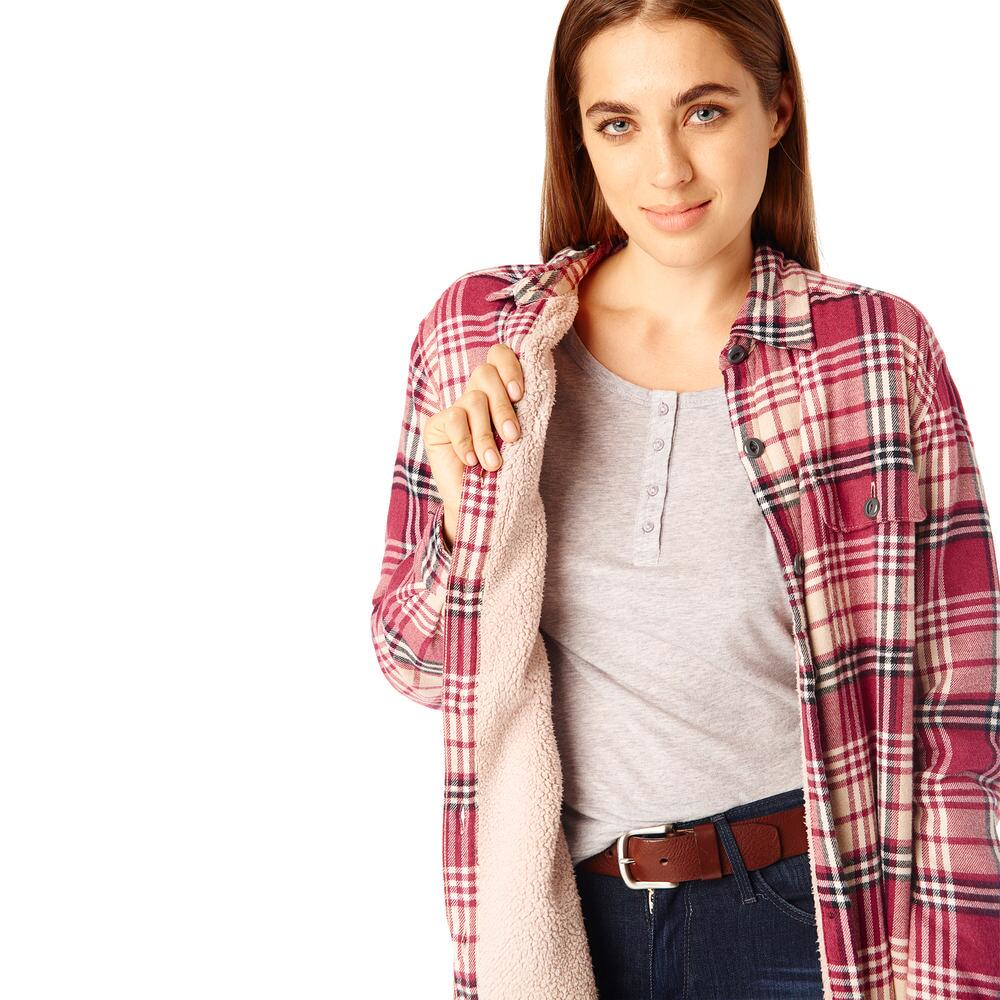 G H Bass Co Plaid Sherpa Lined Shirt Jacket In Red Lyst