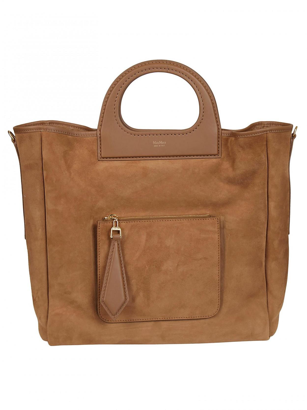 50ef1a6eb Max Mara Top Handle Tote Bag in Brown - Save 49% - Lyst