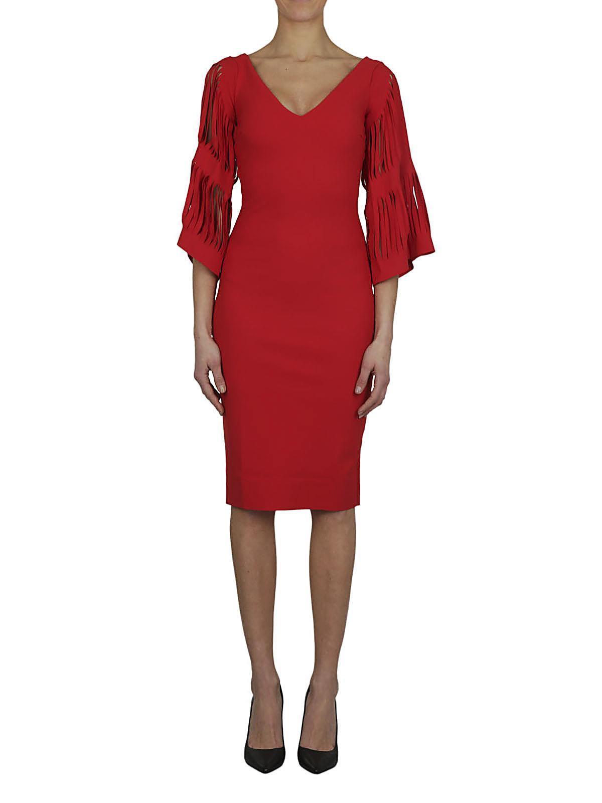 2638f614b527 Chiara Boni CHIARA BONI Abito tubino rosso in Red - Lyst