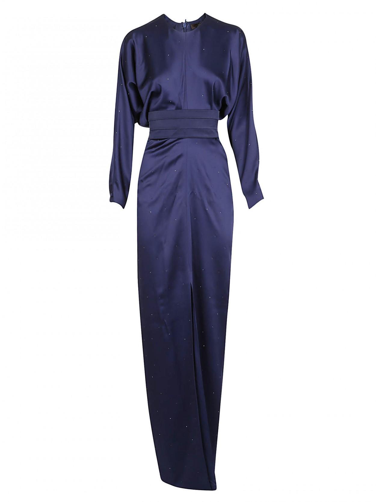 5d5021d707b1 Max Mara Elegante. Women's Blue MAX MARA ELEGANTE abito lungo blu notte  svarowski
