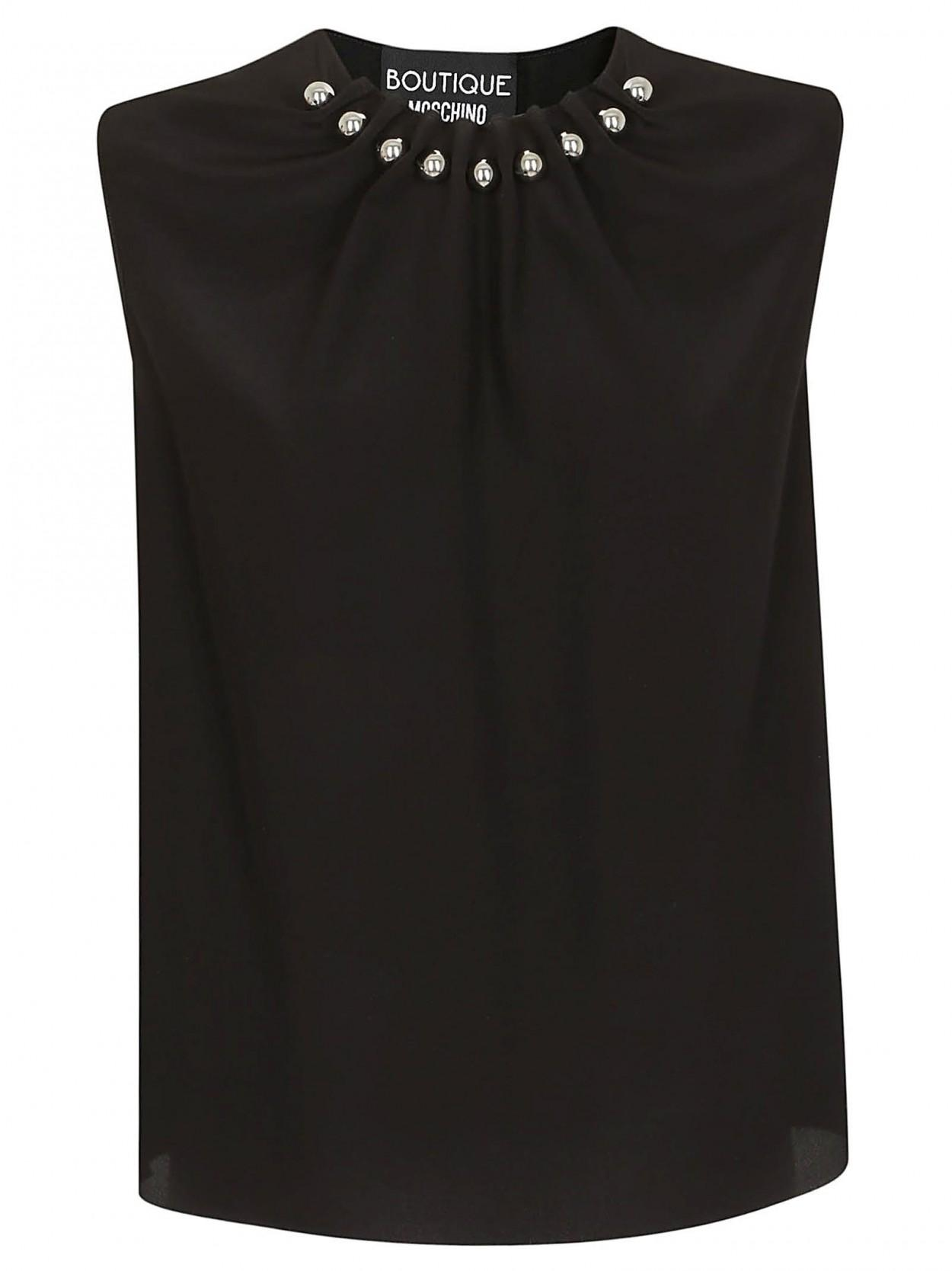f5a38fdc0d Lyst - Boutique Moschino BOUTIQUE MOSCHINO camicia nera sfere ...