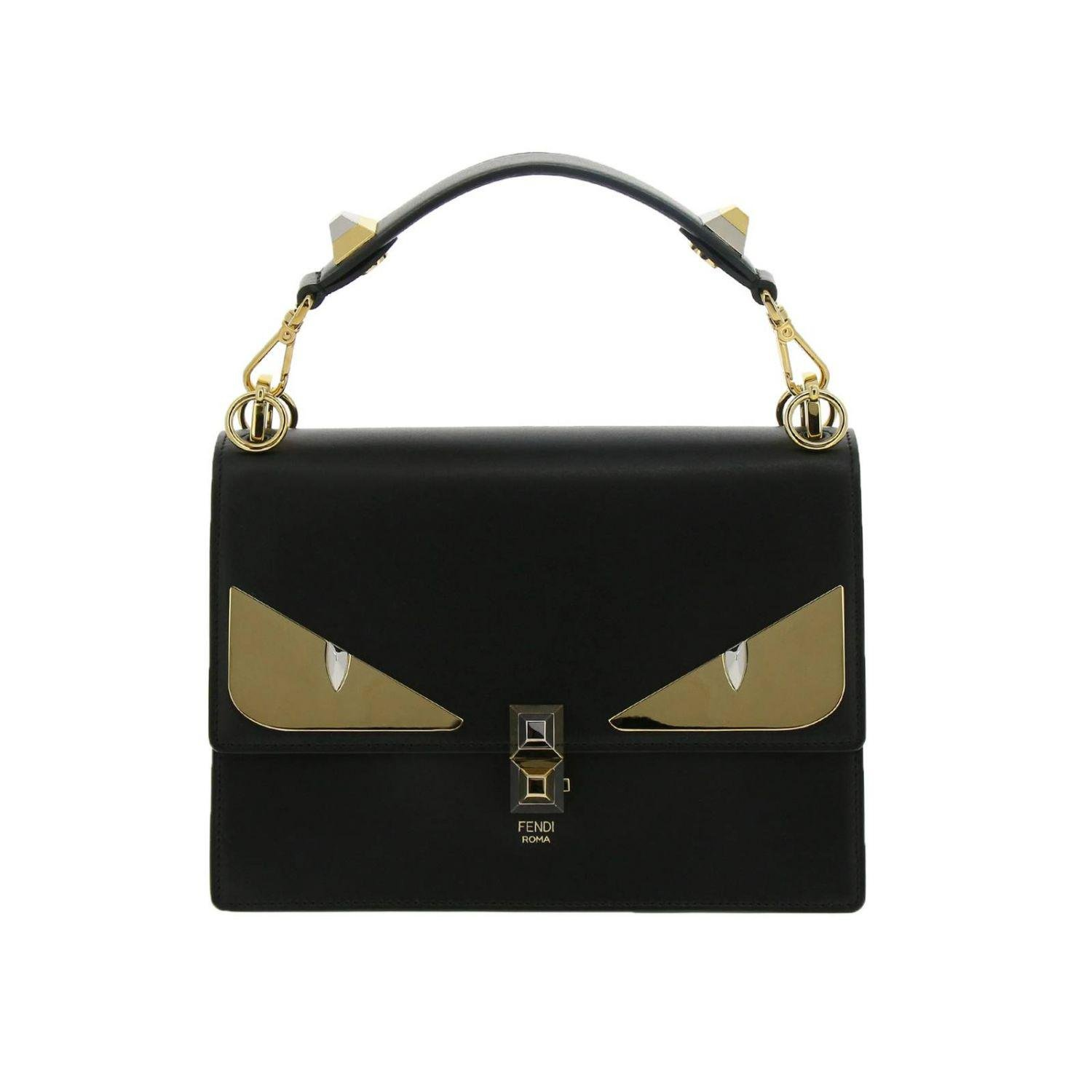 11a1a31b8069 Fendi Monster Eyes Kan I Bag In Genuine Leather With Maxi Metal Eyes ...