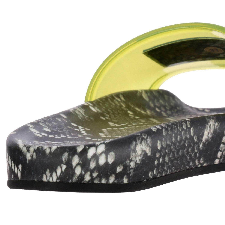 versace rubber women u0026 39 s flat sandals in yellow