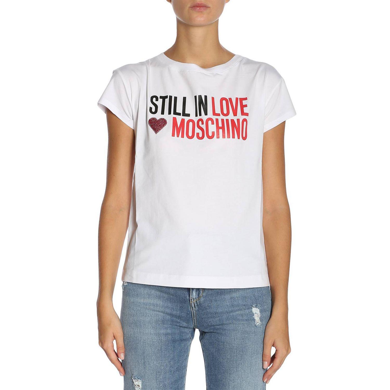 fc039c8a Love Moschino T-shirt Women in White - Lyst