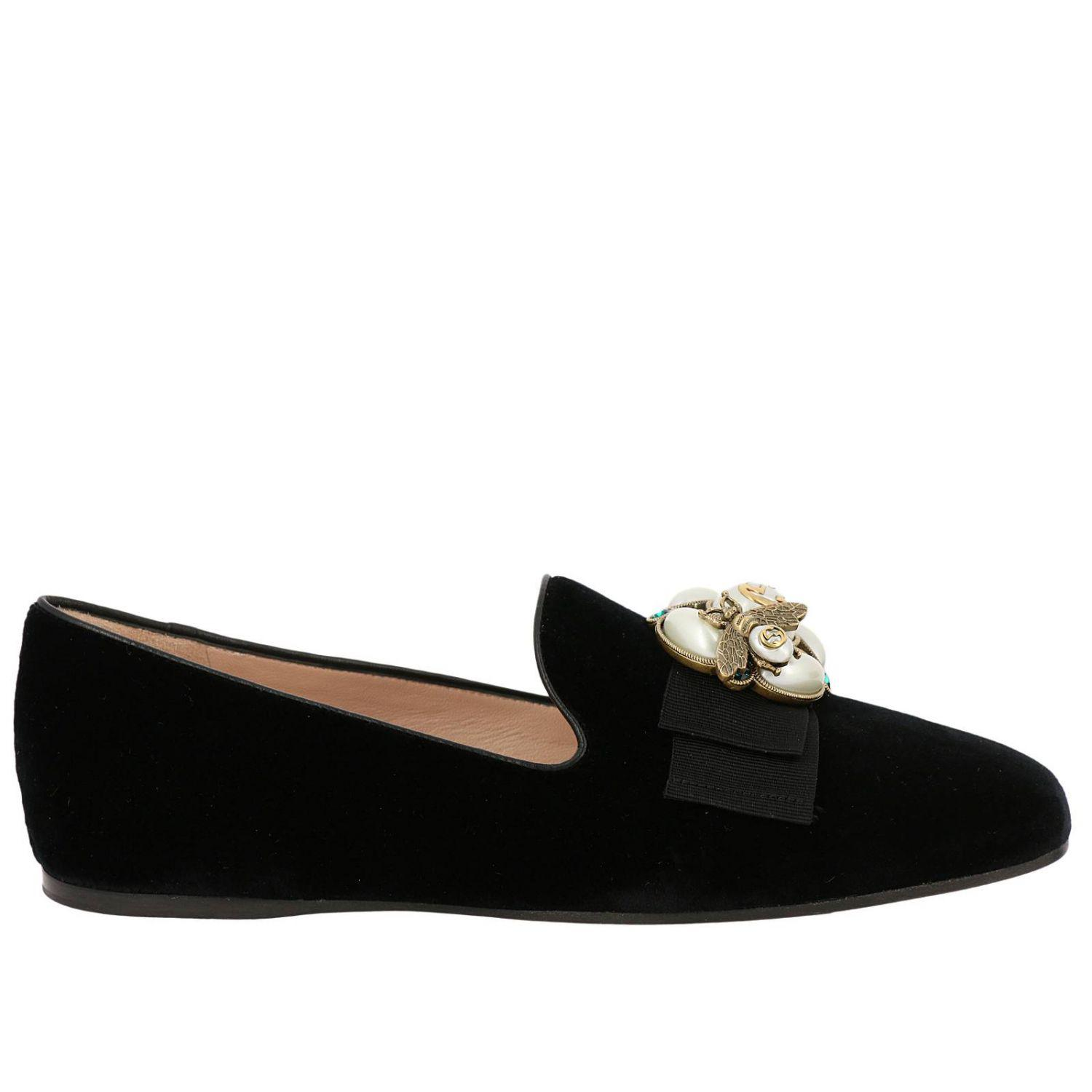 d975f203817 Gucci Velvet Ballet Flat With Bee in Black - Save 11.951588502269288 ...