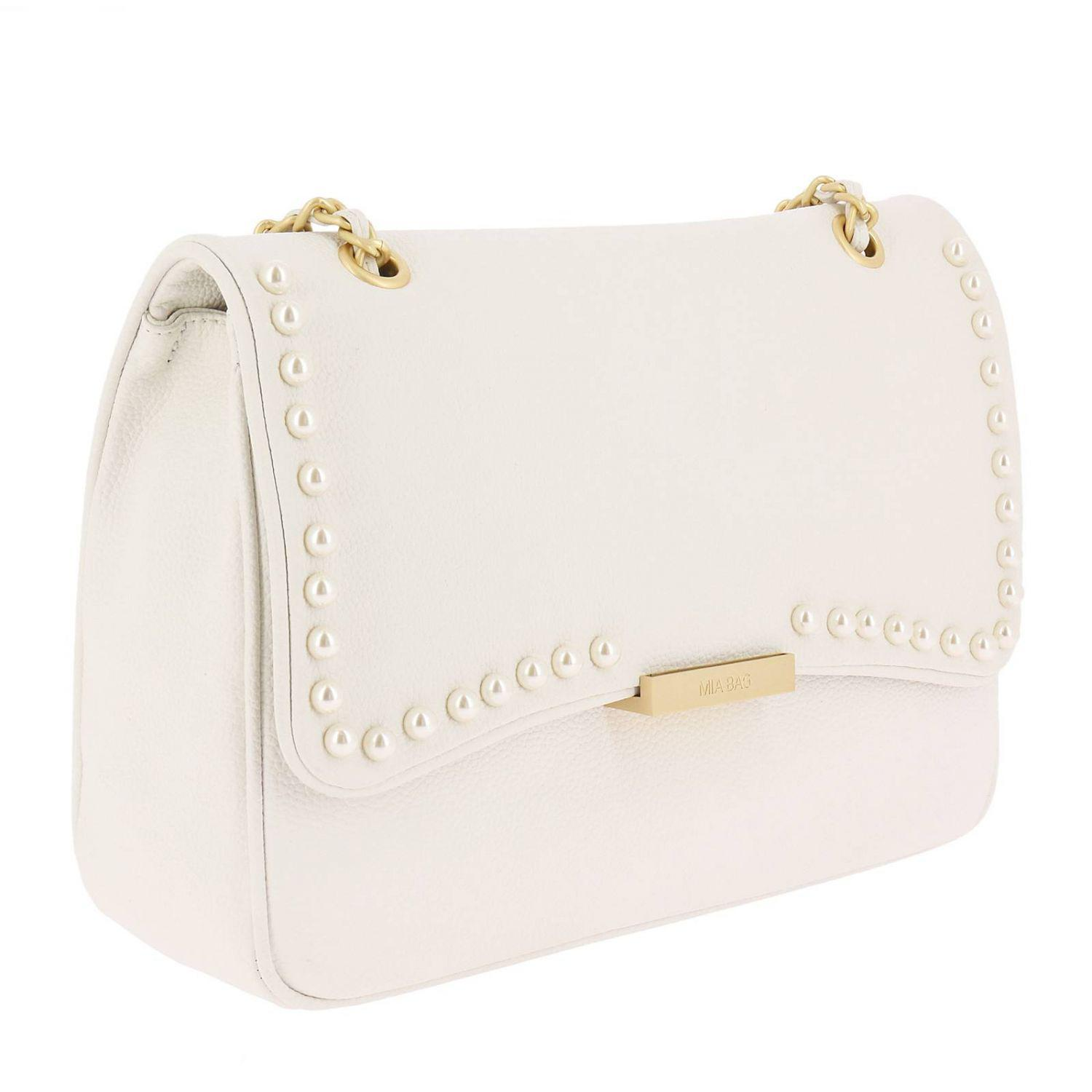 Mia Bag Leather Crossbody Bags Shoulder Bag Women in White