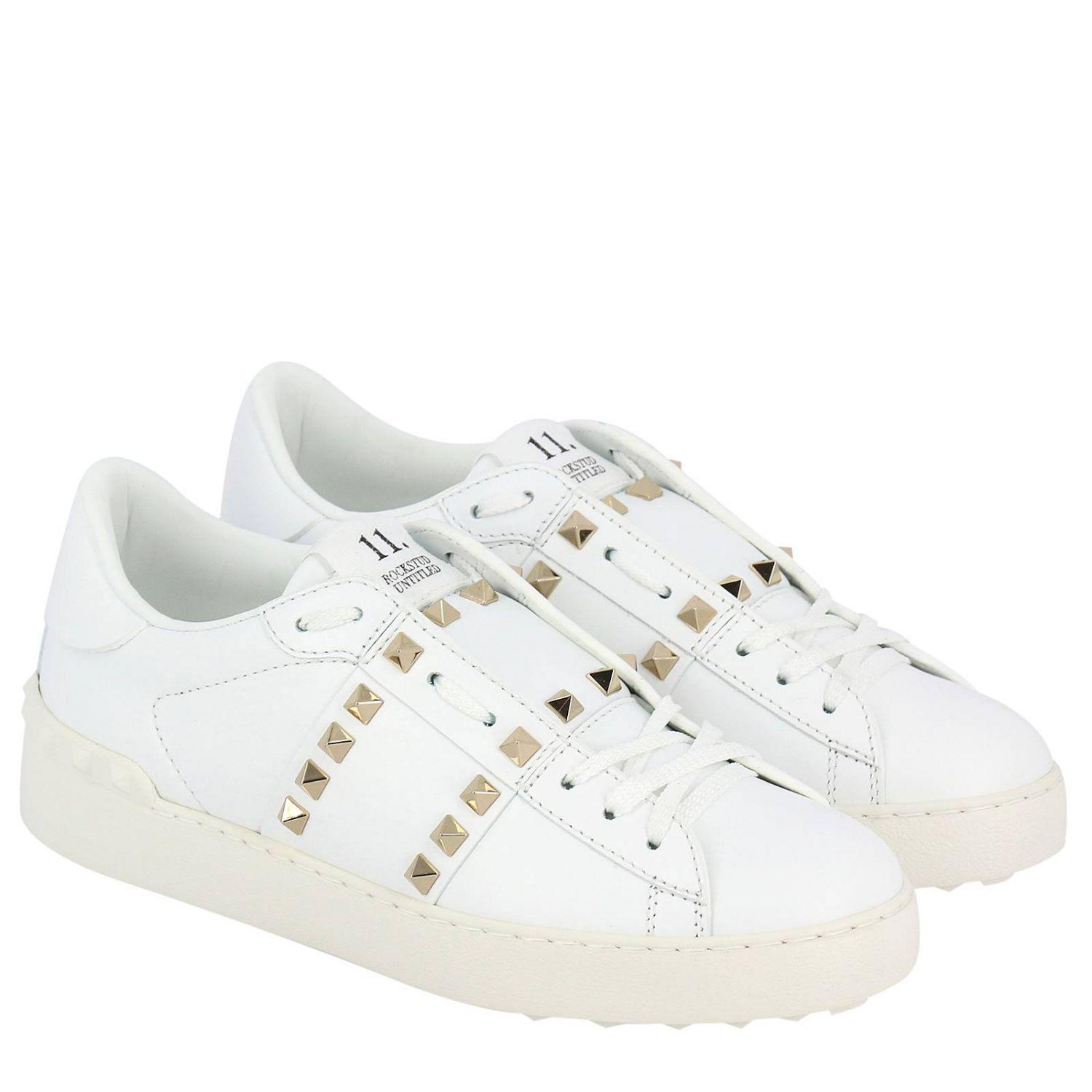 Spike Rockstud Sneakers Valentino Untitled Lyst 11 In White 0O8nwPkX