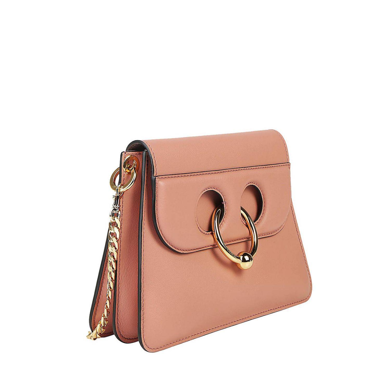 JW Anderson Leather Crossbody Bags Women in Pink
