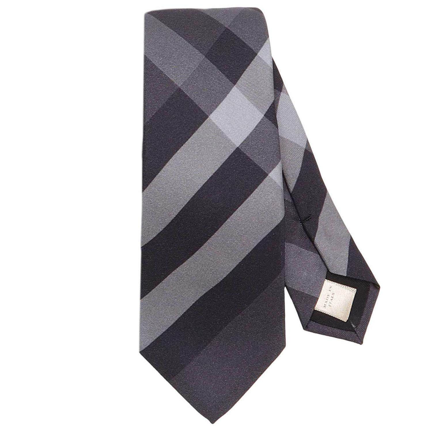 d829403057a8 Burberry Tie Men in Gray for Men - Lyst