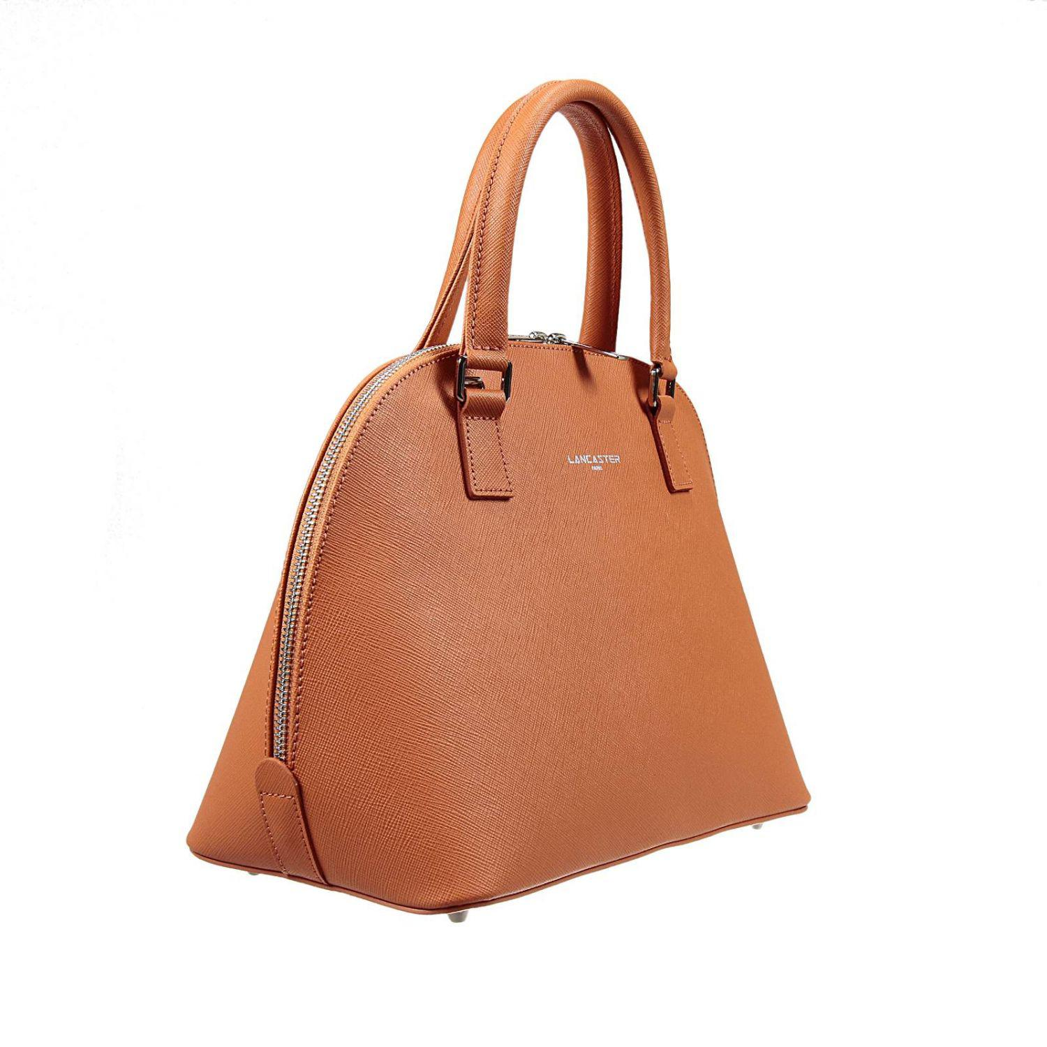 Lancaster Leather Tote Bags in Orange