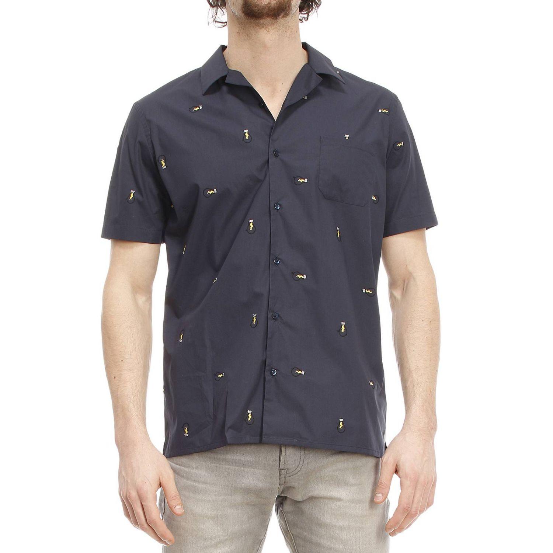 Fendi Men 39 S Shirt In Blue For Men Lyst