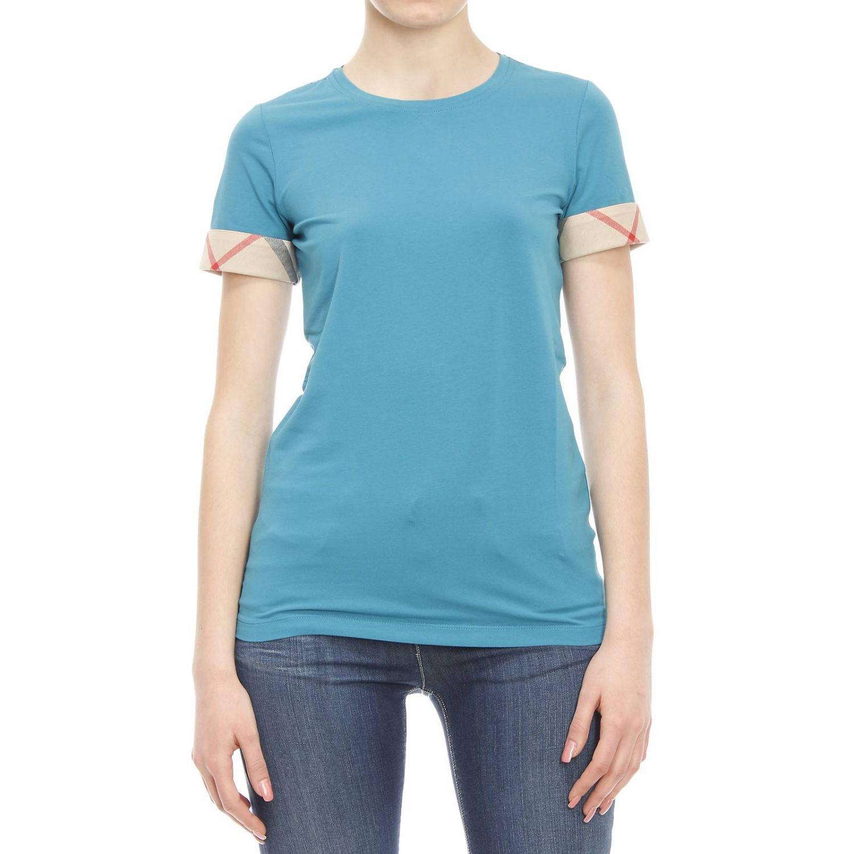 burberry t shirt in blue sky blue lyst. Black Bedroom Furniture Sets. Home Design Ideas