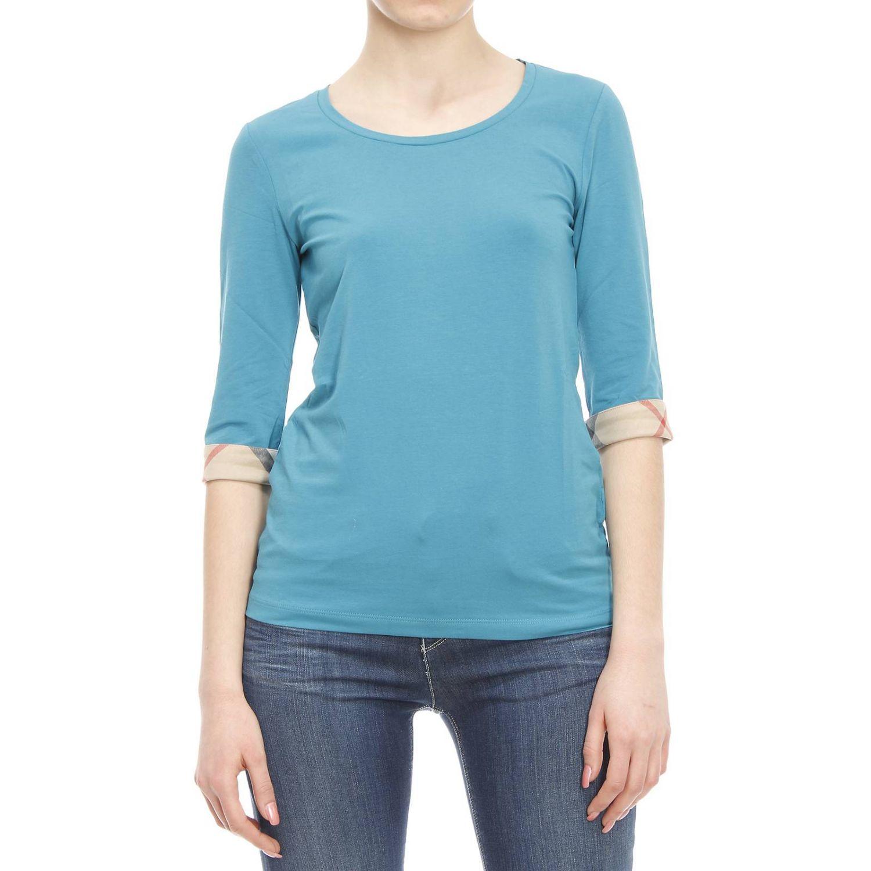 burberry t shirt in blue celeste lyst. Black Bedroom Furniture Sets. Home Design Ideas