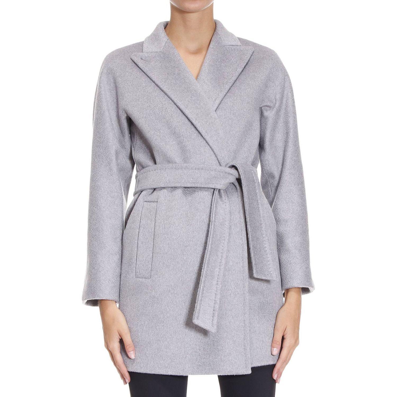 max mara coat woman in gray lyst. Black Bedroom Furniture Sets. Home Design Ideas