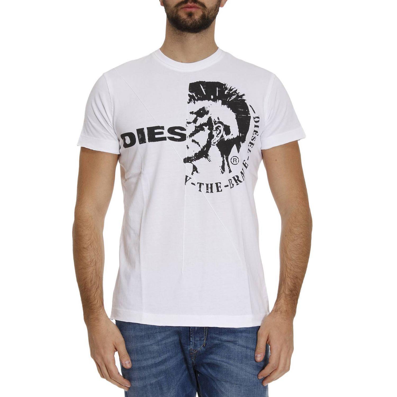 lyst diesel t shirt men in white for men. Black Bedroom Furniture Sets. Home Design Ideas