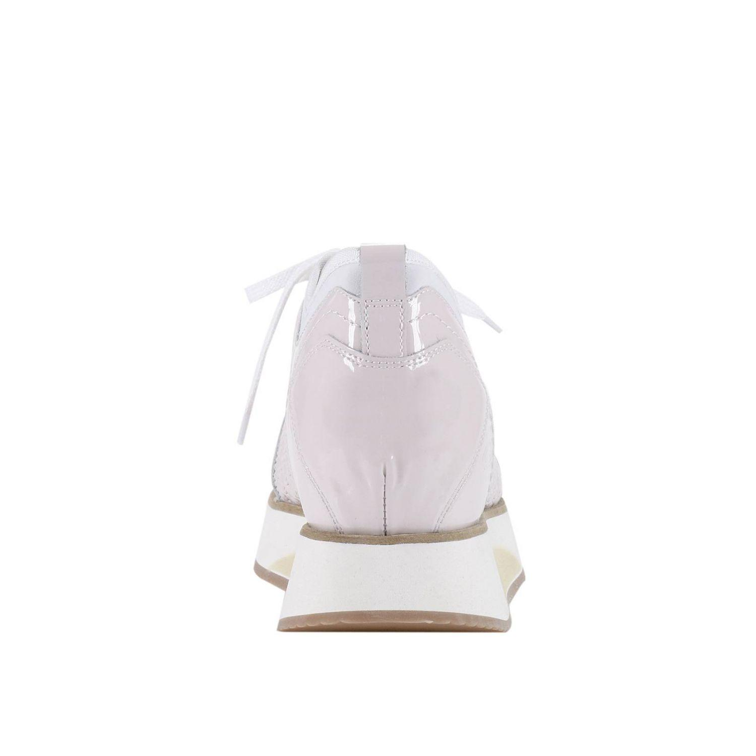 Alberto Guardiani Leather Sneakers Shoes Women in Powder (White)