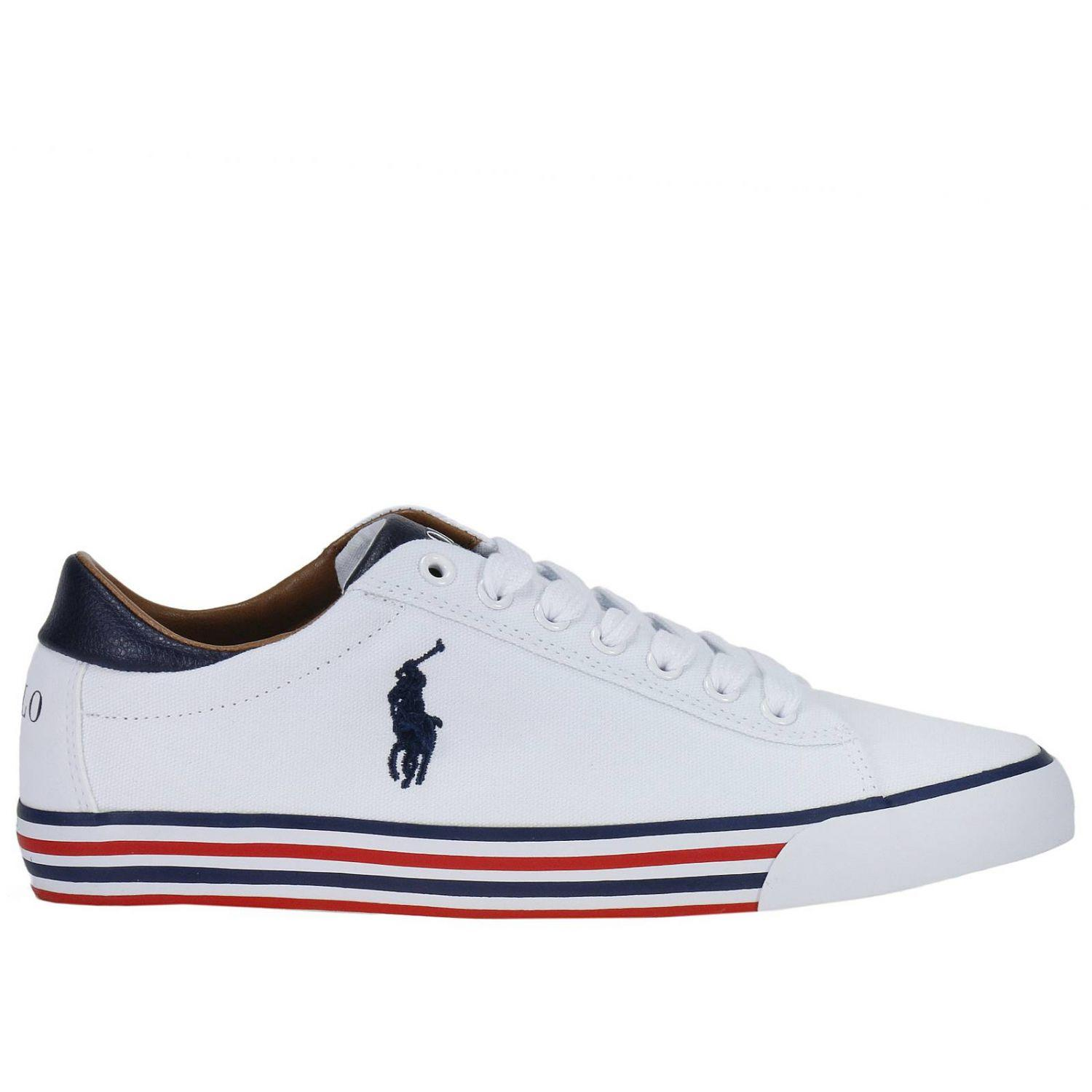 polo ralph lauren sneakers shoes men in white for men lyst. Black Bedroom Furniture Sets. Home Design Ideas