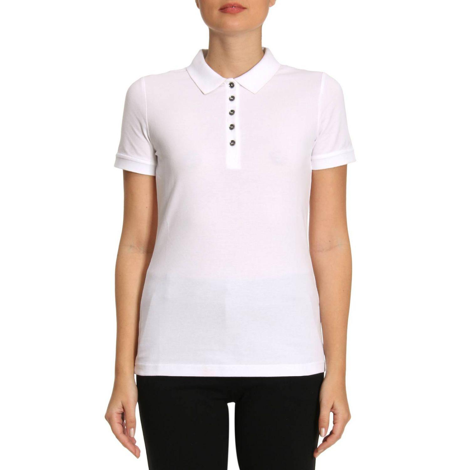 Lyst burberry t shirt women in white for Burberry t shirts for sale