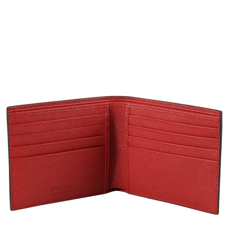 2c9e1a429dc5 denmark lyst prada wallet men in black for men 07fbe f811e