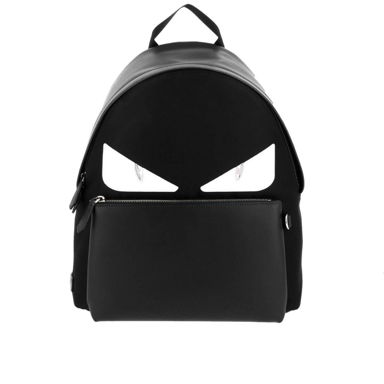 Lyst - Fendi Monster Eyes Leather And Nylon Backpack With Bag Bugs ... cabfdd18613da