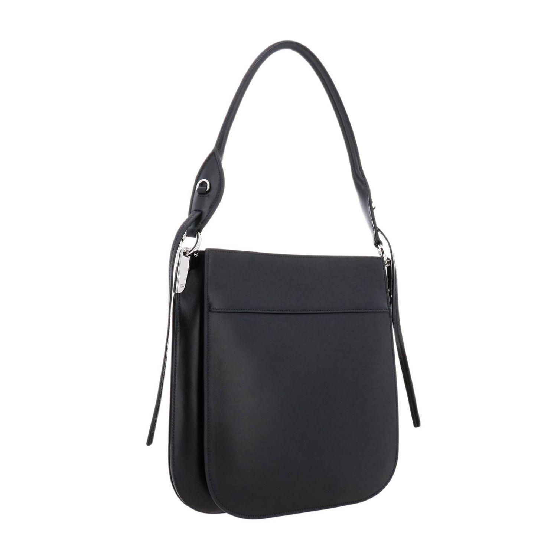 b11caa7da83d Prada - Black Margit Large Bag In Leather Bag With Monochrome Logo - Lyst.  View fullscreen