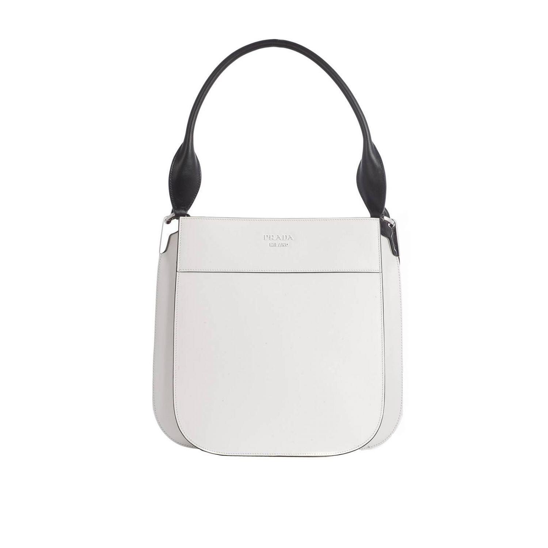 Leather Monochrome Lyst Large With In Logo Prada Margit Bag 0q0HX4