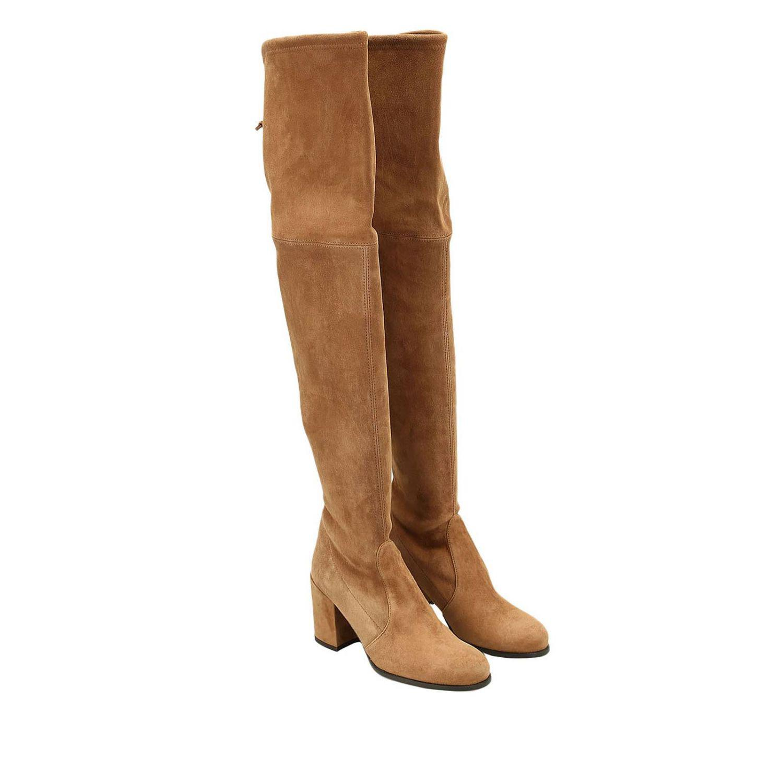 Stuart Weitzman Boots Women in Beige (Natural)