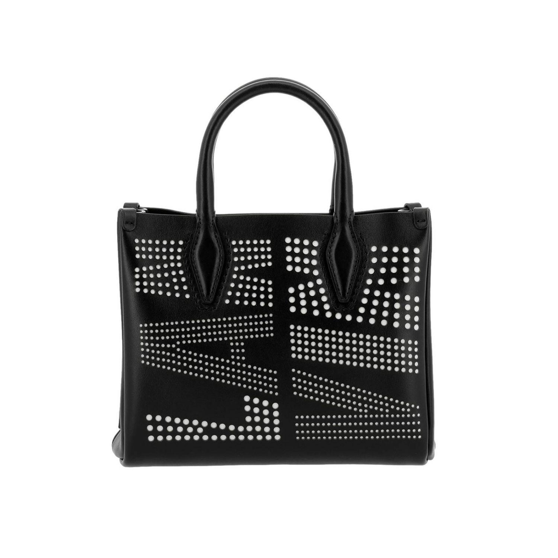 Lanvin Leather Nana Logo Crossbody Bag in Black