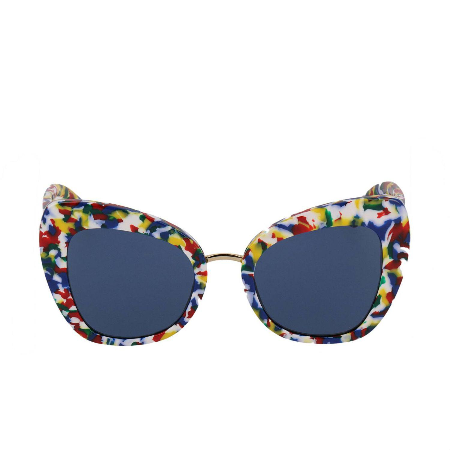 Dolce & Gabbana 51mm Butterfly Sunglasses in Blue