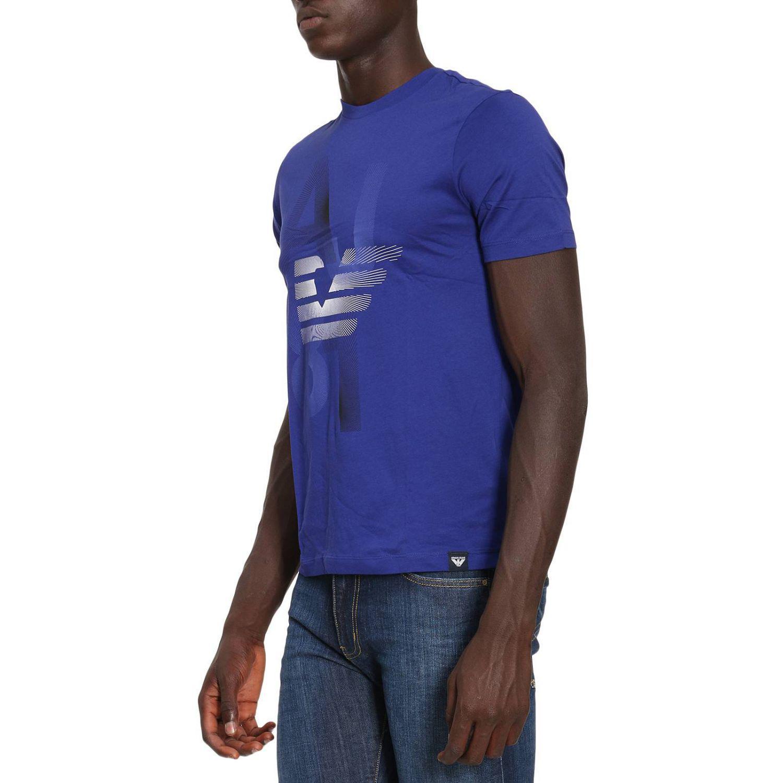 lyst armani jeans t shirt men in blue for men. Black Bedroom Furniture Sets. Home Design Ideas