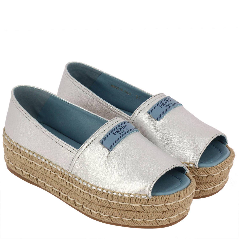 e440196573 Prada - Metallic Espadrilles Shoes Women - Lyst. View fullscreen