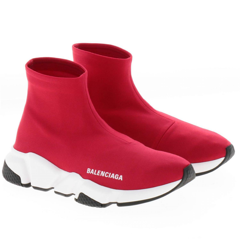 balenciaga shoes womens red