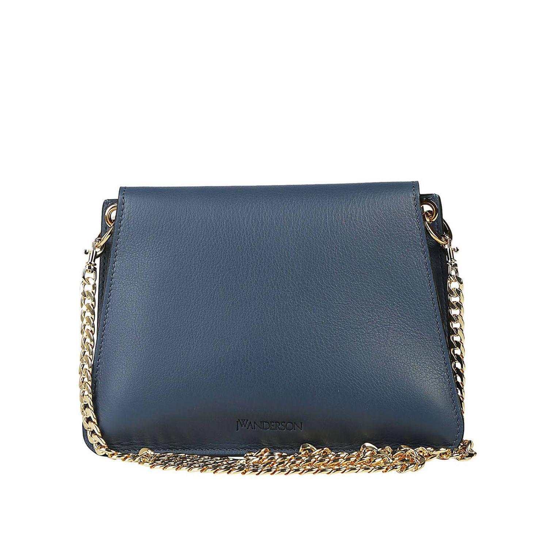 JW Anderson Leather Crossbody Bags Women in Blue
