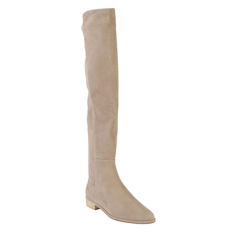 Stuart Weitzman Leather Boots Women in Grey (Grey)