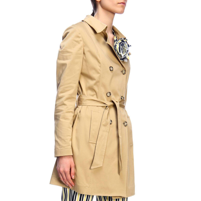 sale retailer be83c 2b246 Liu Jo Trench Coat Women in Natural - Lyst