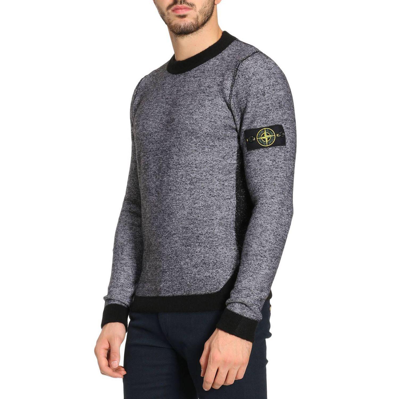 lyst stone island sweater men in gray for men. Black Bedroom Furniture Sets. Home Design Ideas