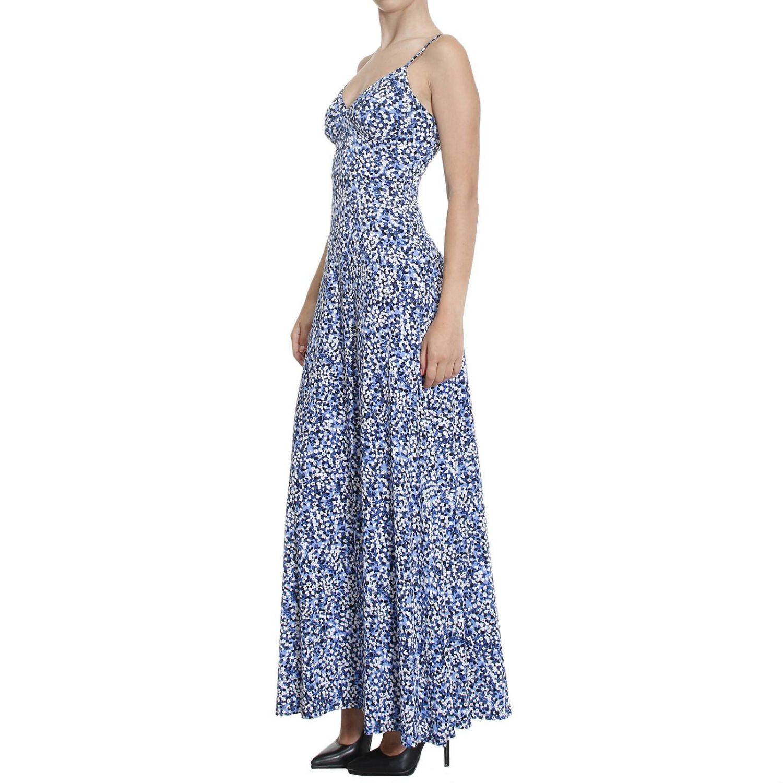 Innovative Lyst - Michael Kors Michael Long-sleeve Geo-print Maxi Dress In Blue
