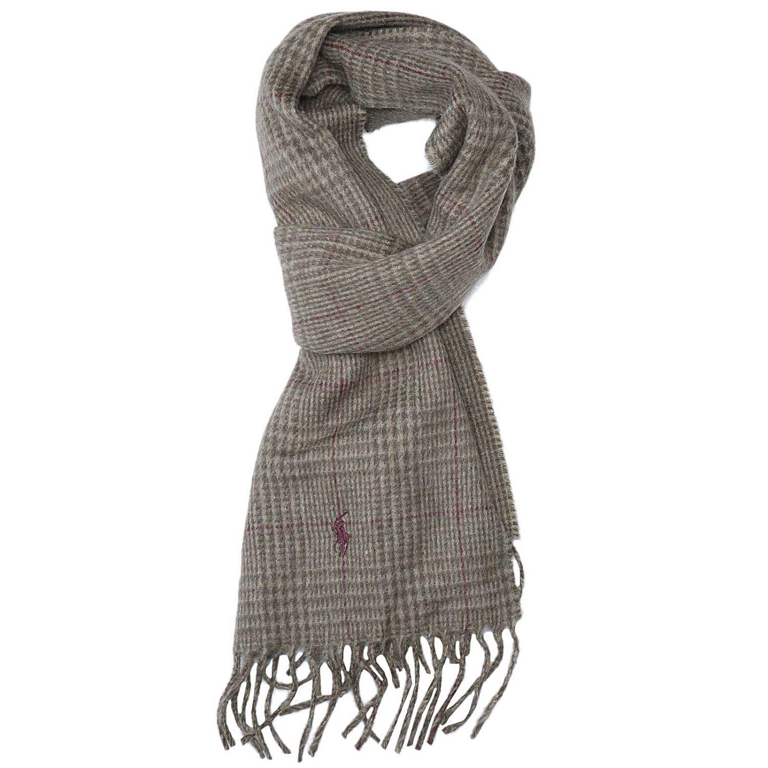 polo ralph scarf in gray for lyst