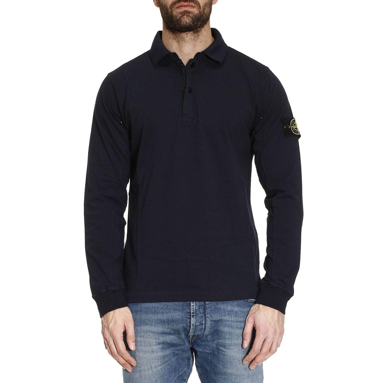 stone island sweater men in blue for men lyst. Black Bedroom Furniture Sets. Home Design Ideas