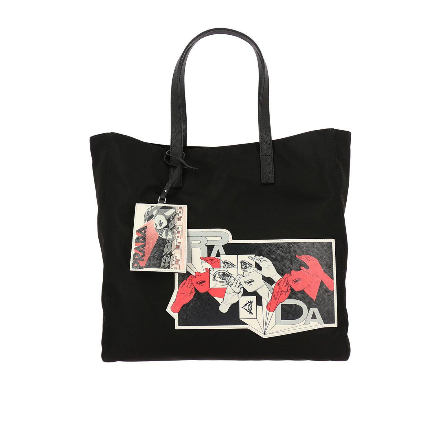 4360f5a45d9ad3 ... coupon code for prada all designer products. womens black bags men  d9651 024cd