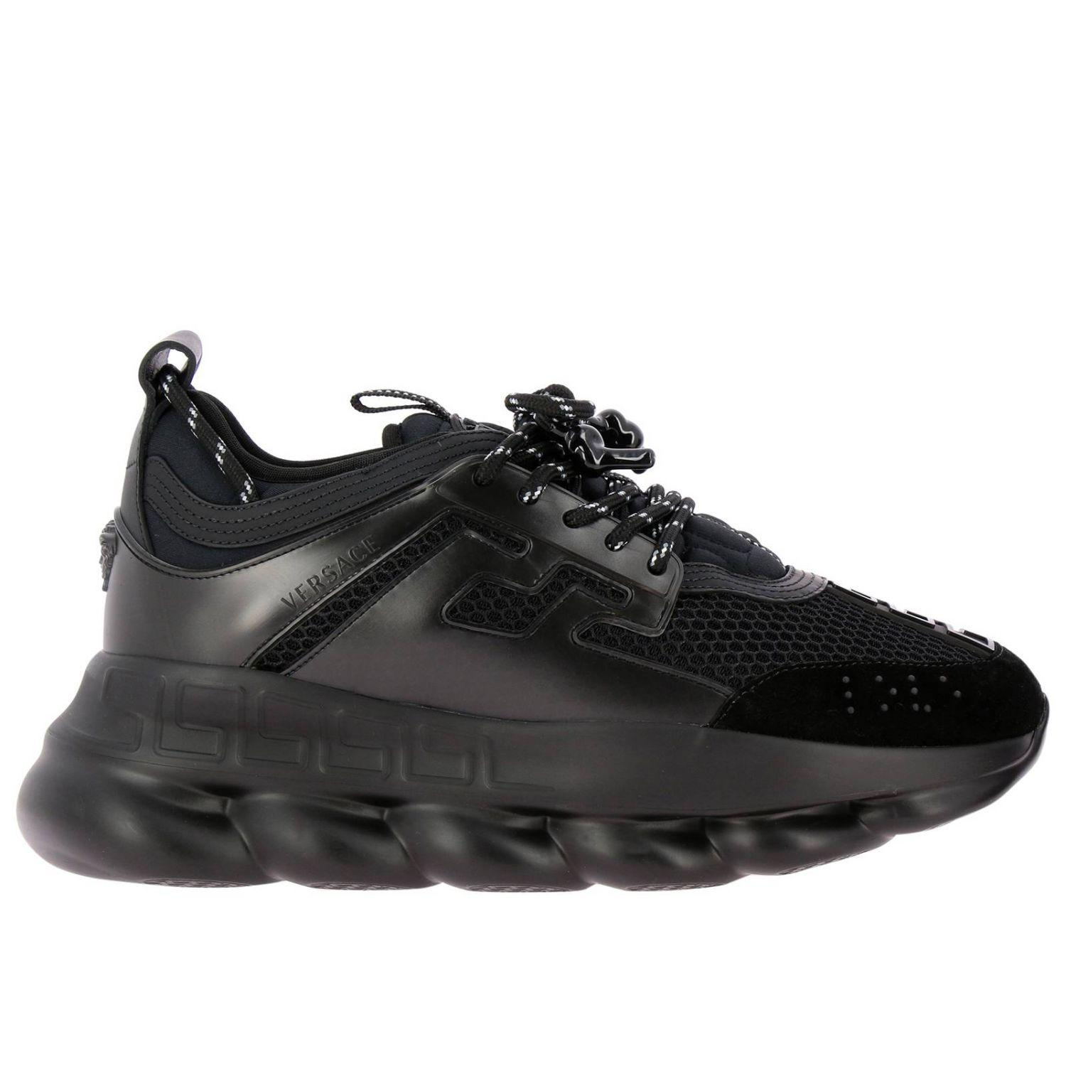Versace Chain Reaction Leather And Mesh