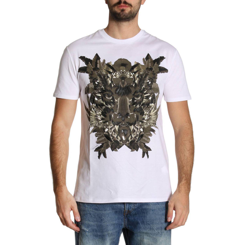 Roberto Cavalli T-shirt Men in White for Men - Lyst ac7902055