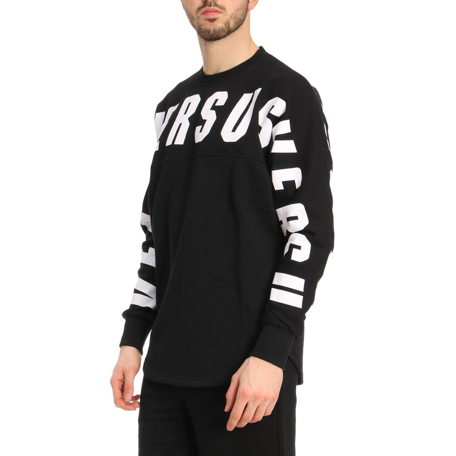 Versus Cotton Sweater Men in Black for Men
