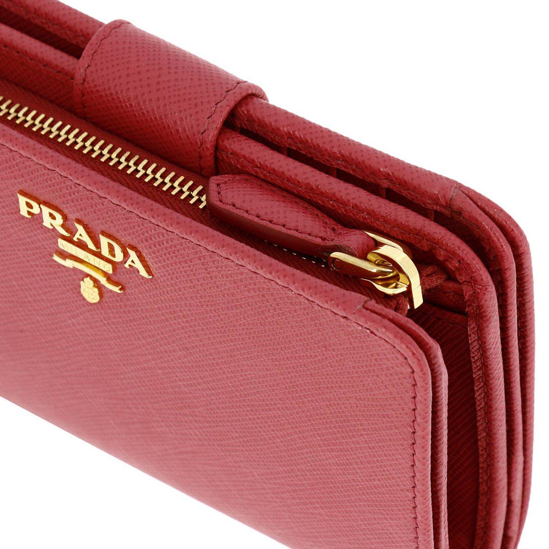 05382e6096f4 ... shop prada wallet women in red lyst 069db 66fc1