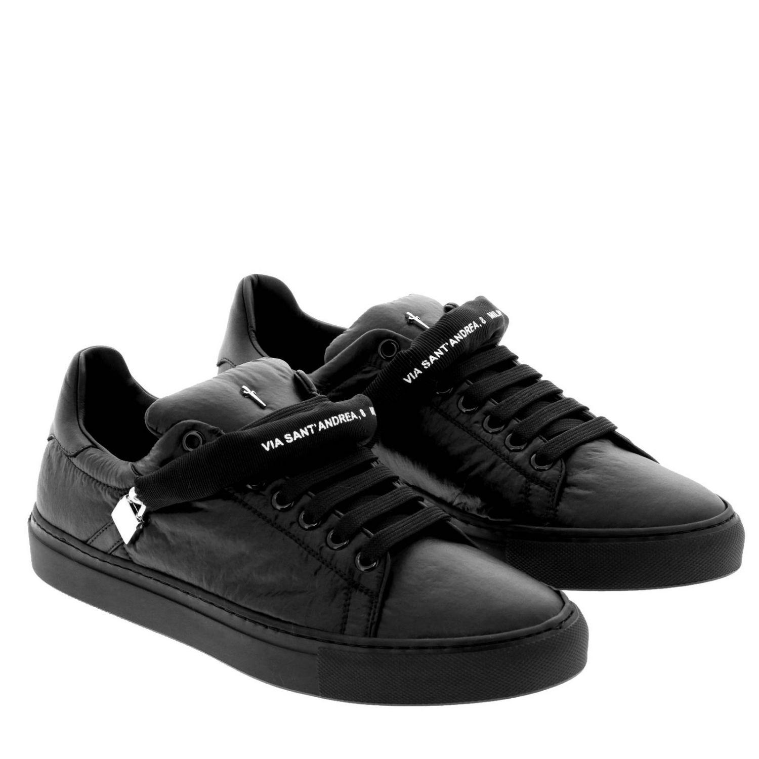 Cesare Paciotti Leather Sneakers Shoes