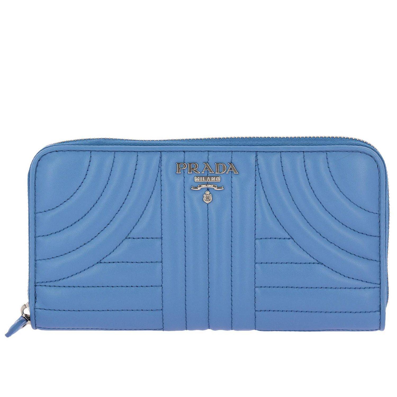 be45747ca76 Prada - Blue Portefeuille femme - Lyst. Afficher en plein écran